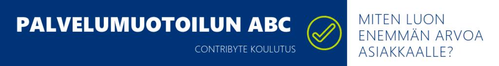 Palvelumuotoilun ABC koulutus